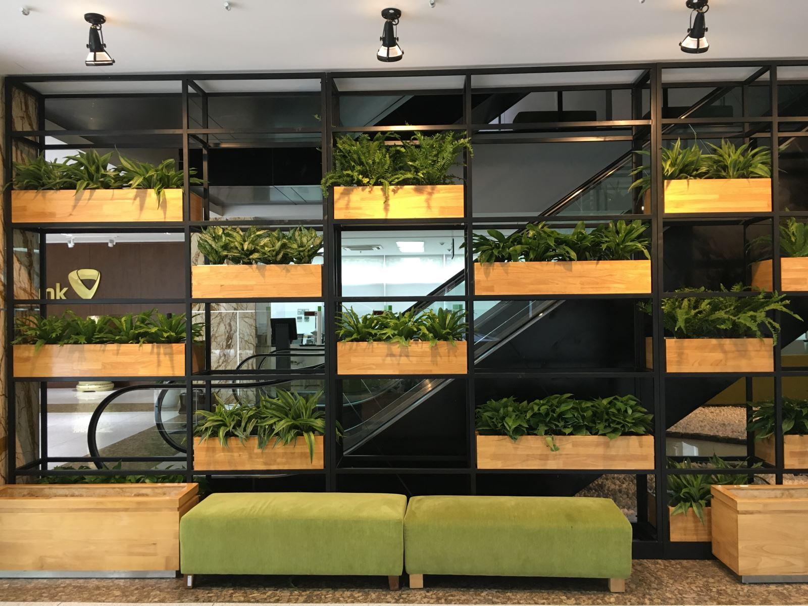 Vách cây xanh tại khách hàng